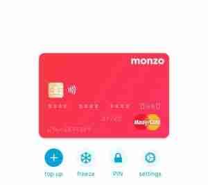 MONZO TRAVEL CARD