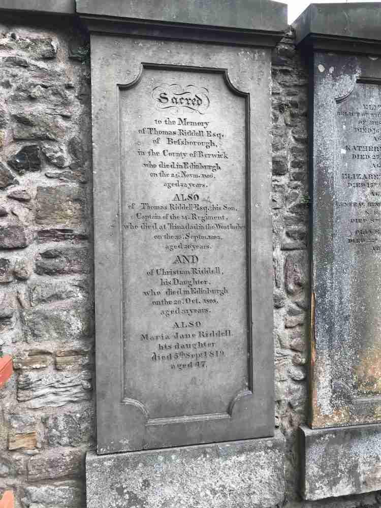Tom Riddle Edinburgh